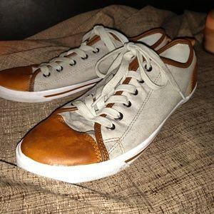 Burnetie Tan and Brown Vintage Sneakers Sz 10